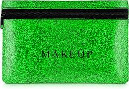 Düfte, Parfümerie und Kosmetik Kosmetiktasche Glitter Pouch grün 18x11 cm - MakeUp