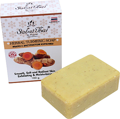 Kurkuma Peelingseife - Sabai Thai Herbal Turmeric Soap — Bild N1
