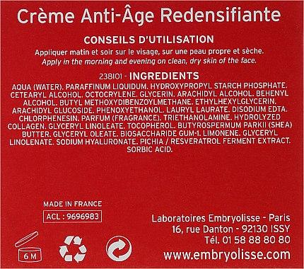Regenerierende Anti-Aging Gesichtscreme 50+ - Embryolisse Anti-age Redensifiante Cream — Bild N3