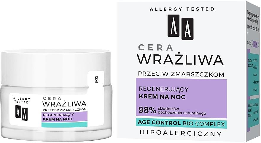 Regenerierende Anti-Falten Nachtcreme für empfindliche Haut - AA Regenerating Night Cream