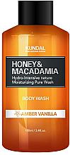 Düfte, Parfümerie und Kosmetik Duschgel mit Ambra und Vanille - Kundal Honey & Macadamia Amber Vanilla Body Wash