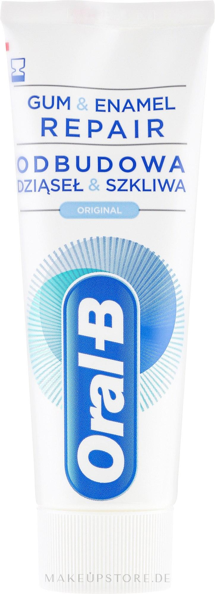Schützende und regenerierende Zahnpasta für Zahnfleisch und -schmelz - Oral-B Professional Gum & Enamel Repair Original — Bild 75 ml