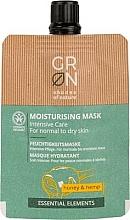 Düfte, Parfümerie und Kosmetik Creme-Maske für normale und trockene Haut mit Honig und Hanf - GRN Essential Elements Honey & Hemp Cream Mask