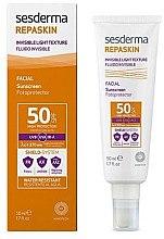 Düfte, Parfümerie und Kosmetik Wasserfestes Sonnenschutzfluid für das Gesicht SPF 50 - SesDerma Laboratories Repaskin Fluido Invisible SPF 50