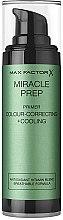 Düfte, Parfümerie und Kosmetik Kühlender Gesichtsprimer gegen Rötungen - Max Factor Miracle Prep Colour Correcting Cooling