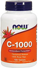 Düfte, Parfümerie und Kosmetik Nahrungsergänzungsmittel Vitamin C 1000 mg mit Hagebutte - Now Foods