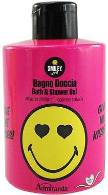 Duschgel - Admiranda Smiley World Bath & Shower Gel Give Me Kisses — Bild N1