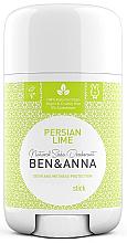 Düfte, Parfümerie und Kosmetik Natürlicher Soda Deostick Persian Lime - Ben & Anna Natural Soda Deodorant Persian Lime