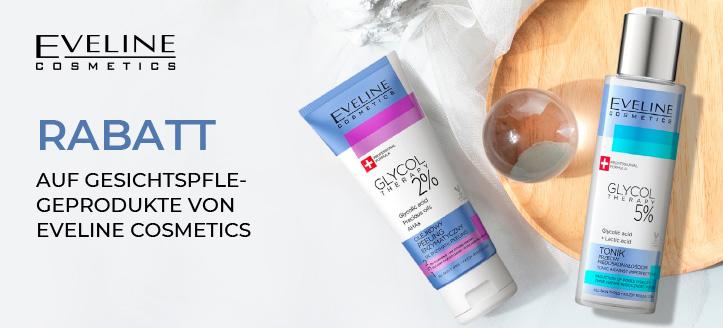 Rabatt auf Gesichtspflegeprodukte von Eveline Cosmetics. Die Preise auf der Website sind inklusive Rabatt
