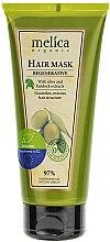 Düfte, Parfümerie und Kosmetik Regenerierende Haarmaske mit Olive und Klettenextrakt - Melica Organic Regenerative Hair Mask