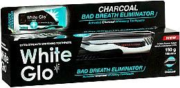 Zahnpflegeset - White Glo Charcoal Bad Breath Eliminator (Zahnpasta 100 ml & Zahnbürste 1 St.) — Bild N1