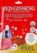 Düfte, Parfümerie und Kosmetik Ultra feuchtigkeitsspendende Tuchmaske für das Gesicht mit rotem Ginseng-Extrakt - Ekel Red Ging Seng Ultra Hydrating Essence Mask