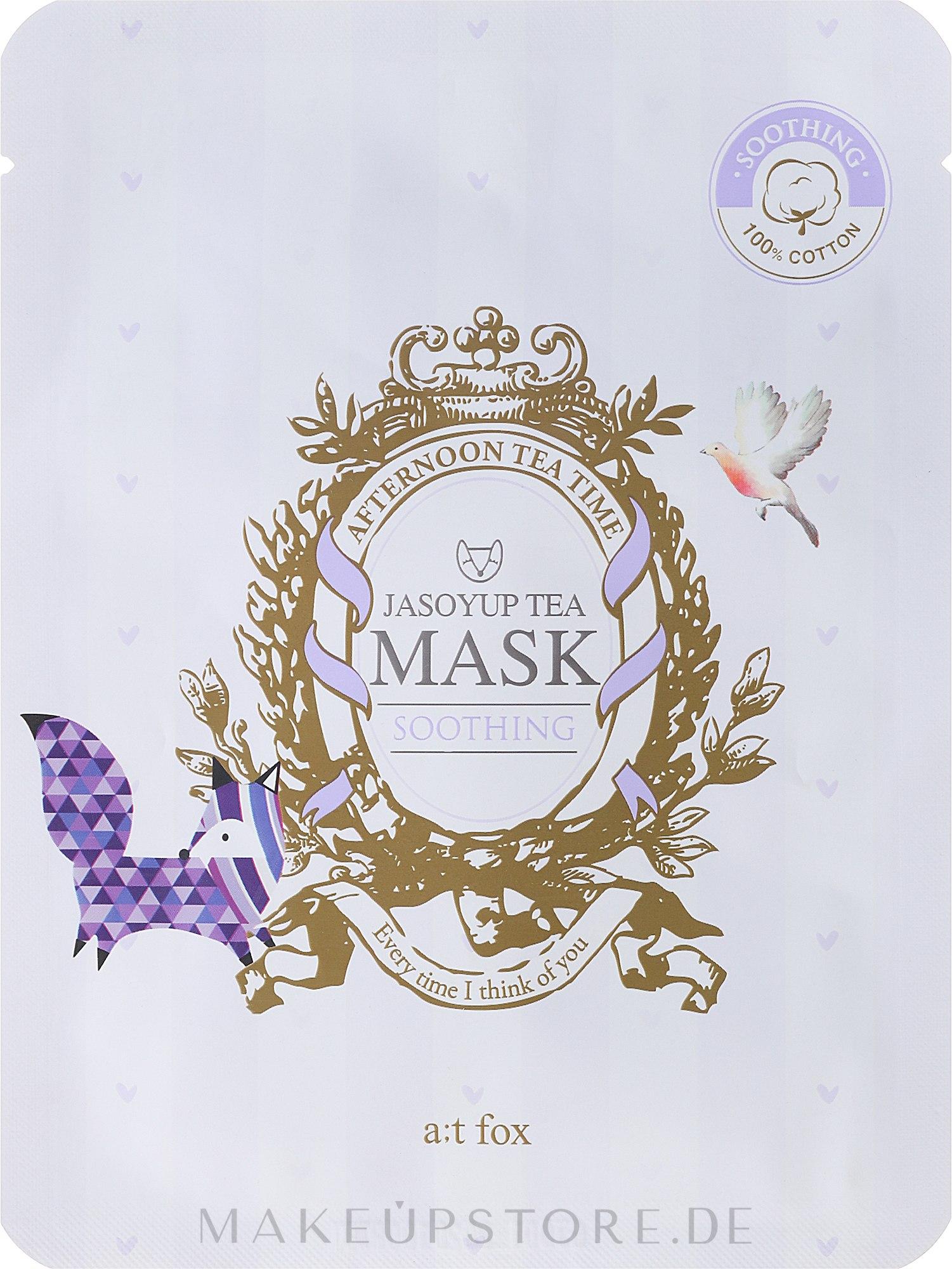 Beruhigende Gesichtsmaske mit Jasoyup-Tee - A:t fox Soothing Jasoyup Tea Mask — Bild 20 ml