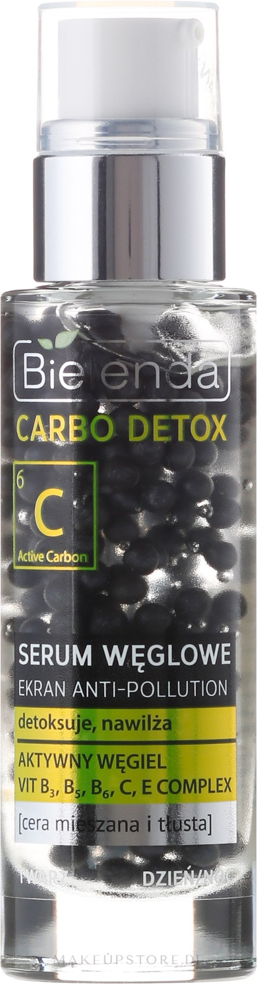 Gesichtsserum mit Aktivkohle für fettige und Mischhaut - Bielenda Carbo Detox Serum — Bild 30 g