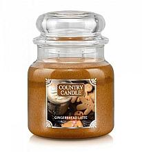 Düfte, Parfümerie und Kosmetik Duftkerze im Glas Gingerbread Latte - Country Candle Gingerbread Latte