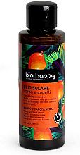 Düfte, Parfümerie und Kosmetik Bräunungsöl für Körper und Haar mit Mango und schwarzer Karotte - Bio Happy Hair & Body Tanning Oil Mango And Black Carrot