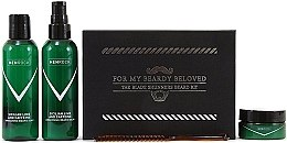 Düfte, Parfümerie und Kosmetik Set - Men Rock Awakening Beardy Beloved Care Kit (soap/100ml + balm/100ml + wax/25ml + comb/1pcs)