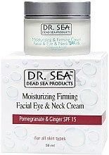 Düfte, Parfümerie und Kosmetik Feuchtigkeitsspendende und straffende Gesichts-, Augen- und Halscreme SPF 15 - Dr. Sea Moisturizing Cream