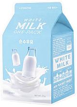 Düfte, Parfümerie und Kosmetik Feuchtigkeitsspendende Gesichtsmaske mit Milchprotein-Extrakt - A'Pieu Milk One-Pack Hydrating White Milk