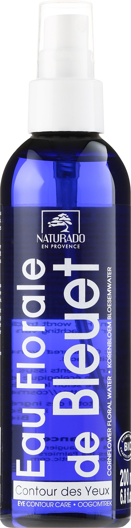 Mizellenwasser mit Kornblumenblüten - Naturado Water from Cornflower Flowers — Bild 200 ml