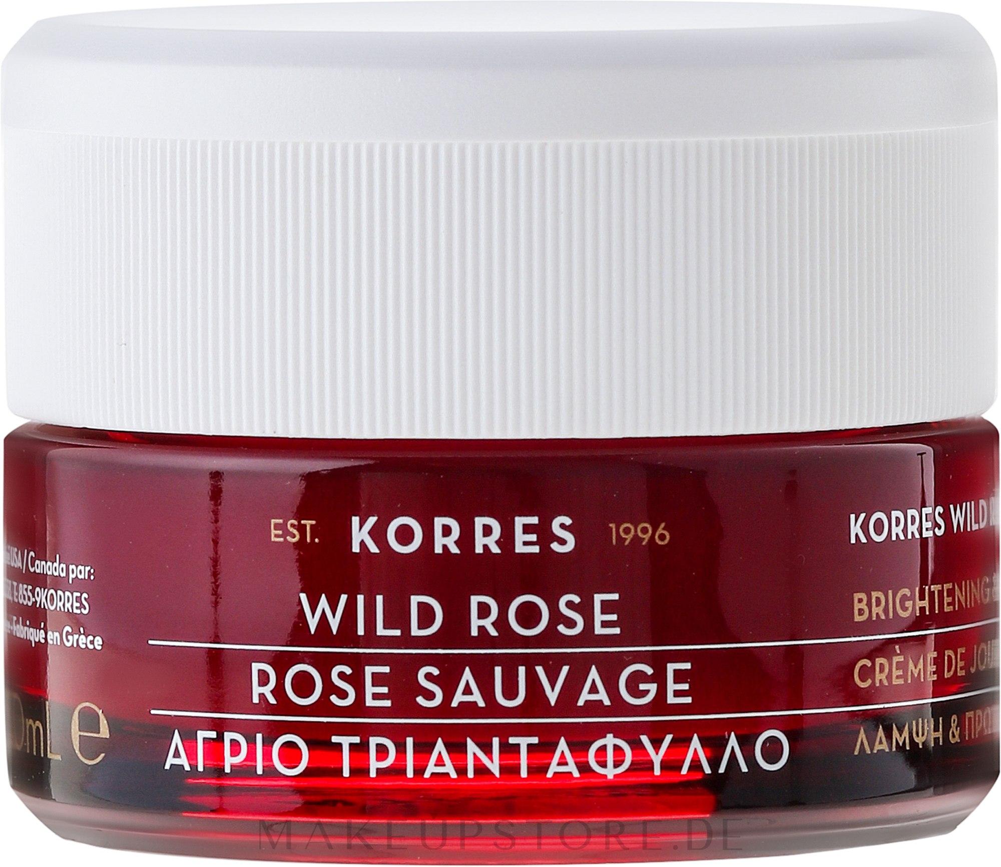 Feuchtigkeitsspendende Tagescreme mit wilder Rose - Korres Wild Rose Brightening & First Wrinkles Day Cream — Bild 40 ml