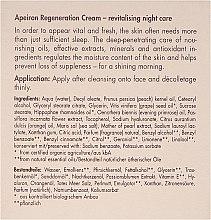 Revitalisierende Nachtpflege für normale bis trockene Haut - Apeiron Night Regeneration Cream — Bild N3