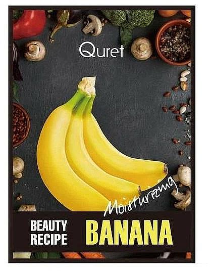 Feuchtigkeitsspendende Gesichtsmaske mit Banane - Quret Beauty Recipe Mask Banana Moisturizing — Bild N1