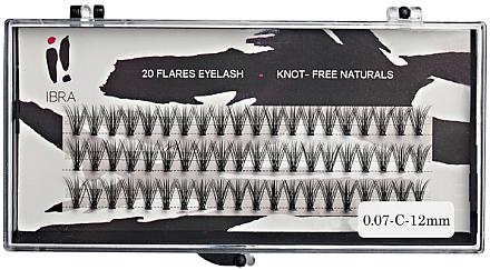 Wimpernbüschel-Set - Ibra 20 Flares Eyelash Knot Free Naturals — Bild N1
