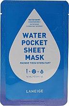 Düfte, Parfümerie und Kosmetik Feuchtigkeitsspendende Tuchmaske für das Gesicht - Laneige Water Pocket Sheet Mask Water Bank