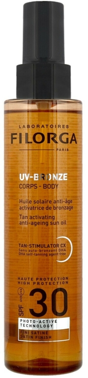 Anti-Aging Bräunungsöl SPF 30 - Filorga UV-Bronze Body Tan Activating Anti-Ageing Sun Oil SPF 30 — Bild N1
