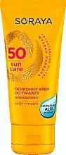 Düfte, Parfümerie und Kosmetik Feuchtigkeitsspendende Gesichtsschutzcreme - Soraya Sun Care Waterproof Face Cream SPF50