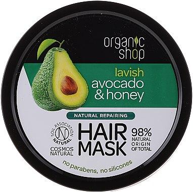 Avocado Honig Haarmaske - Organic Shop Organic Avocado and Honey Hair Mask — Bild N1