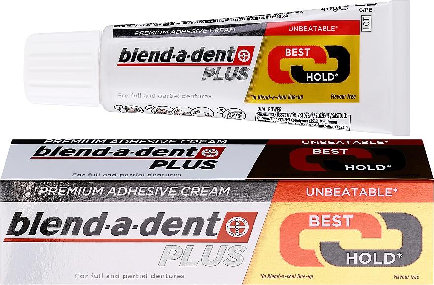 Haftcreme für Voll- und Teilprothesen - Blend-A-Dent Premium Adhesive Cream Plus Dual Power Light Mint