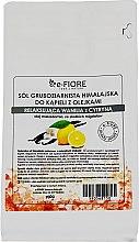 Düfte, Parfümerie und Kosmetik Himalaya-Salz zum Baden mit Vanille und Zitrone - E-fiore Himalayan Salt With Oils Sensual Vanilla With Lemon