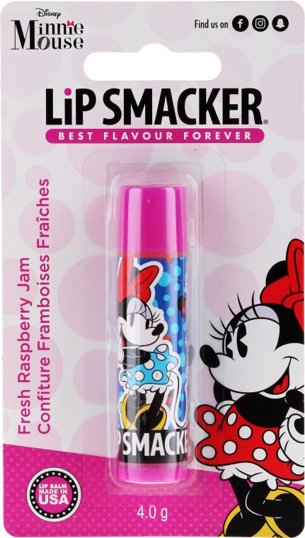 Lippenbalsam für Kinder mit erfrischendem Himbeermarmelade-Geschmack - Lip Smacker Disney Minnie Mouse Fresh Raspberry Jam — Bild N1