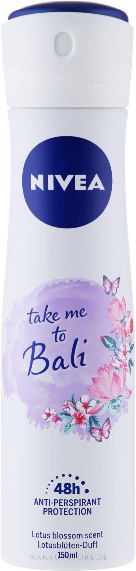 Deospray Antitranspirant - Nivea Take Me To Bali Spray — Bild 150 ml