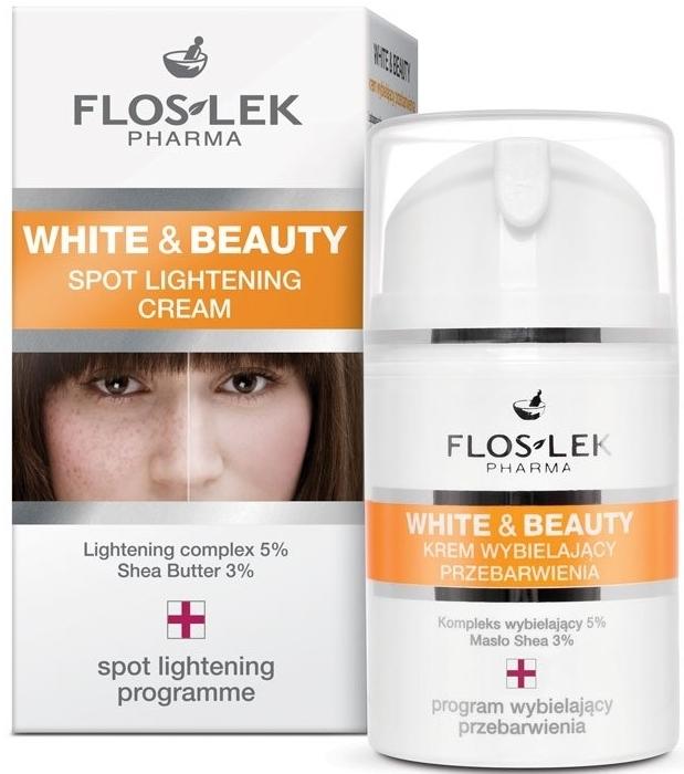 Aufhellende Gesichtscreme gegen Pigmentflecken - Floslek White & Beauty Spot Lightening Cream