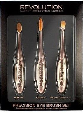 Make-up Pinselset 3-tlg. - Makeup Revolution Precision Eye Set — Bild N2