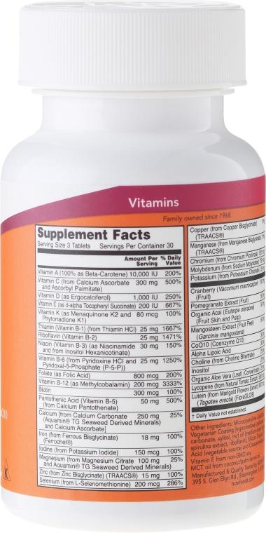 Nahrungsergänzungsmittel Eve für Frauen mit Preiselbeere, Alpha-Liponsäure und Coenzym Q10 - Now Foods Eve Womans Multi — Bild N2