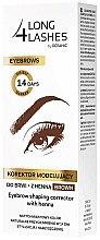Düfte, Parfümerie und Kosmetik Formkorrektur-Stift für Augenbrauen mit Henna - Long 4 Lashes Eyebrow Shaping Corrector with Henna
