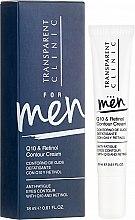 Düfte, Parfümerie und Kosmetik Augenkonturcreme mit Coenzym Q10 und Retinol - Transparent Clinic For Men Q10&Retinol Contour Cream