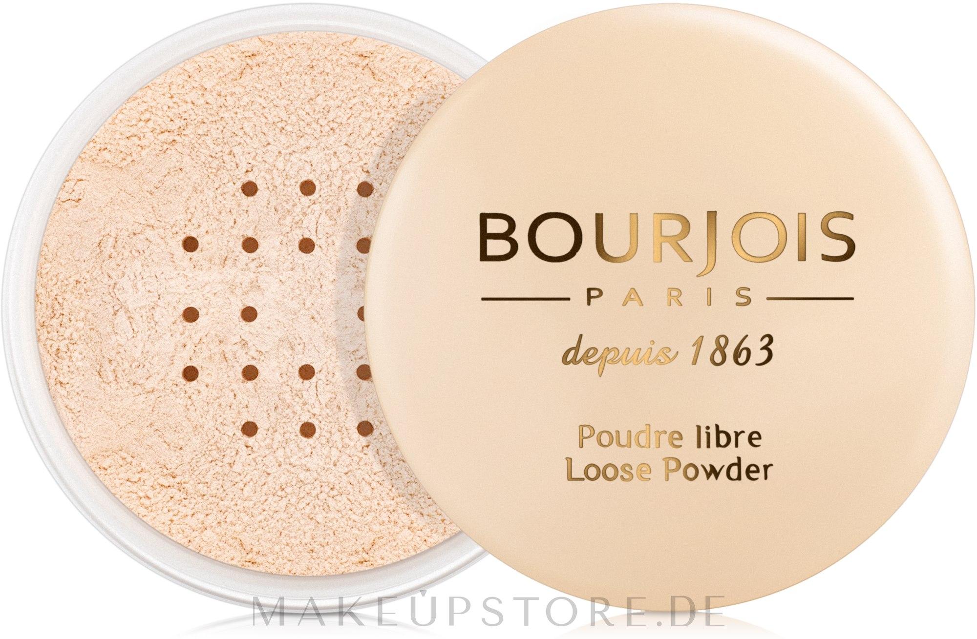 Loser Gesichtspuder - Bourjois Poudre Libre — Bild 01 - Peach