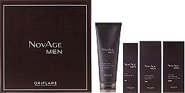 Düfte, Parfümerie und Kosmetik Gesichtspflegeset - Oriflame NovAge Men (Gesichtsgel-Creme 50ml + Gesichtsserum 50ml + Augengel 15ml + Reinigungsprodukt 125ml)
