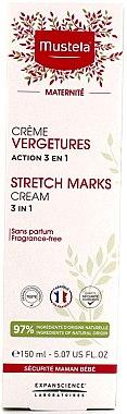 Unparfümierte Creme gegen Schwangerschaftsstreifen - Mustela Maternity Stretch Marks Cream Active 3in1 — Bild N2
