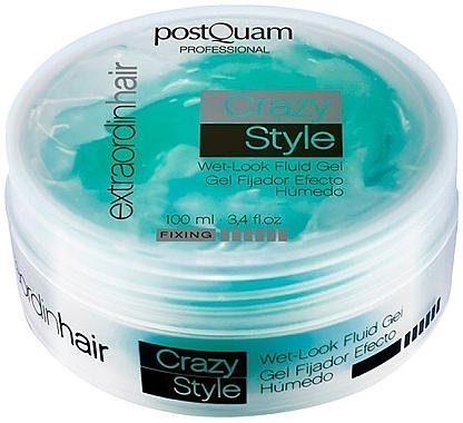Haargel mit Nass-Look-Effekt - PostQuam Extraordinhair Crazy Style Wet Look Fluid Gel — Bild N1
