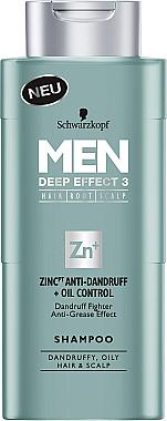 Anti-Schuppen Shampoo - Schwarzkopf Men Deep Effect 3 Zinc Anti-Dandruff+Oil Control Shampoo — Bild N1