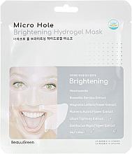 Düfte, Parfümerie und Kosmetik Aufhellende Tuchmaske für das Gesicht mit Lilien- und Magnolienextrakt - Beauugreen Microhole Clear Brightening Hydrogel Mask