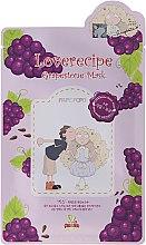 Düfte, Parfümerie und Kosmetik Tiefenreinigende Peeling-Tuchmaske mit Traubenextrakt und Hyaluronsäure - Sally's Box Loverecipe Grapestone Mask