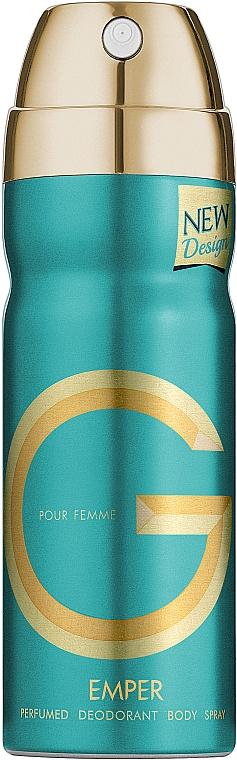 Duftset - Emper G Pour Femme (Eau de Parfum 100ml + Deospray 200ml + Körperlotion 100ml) — Bild N4