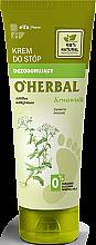 Düfte, Parfümerie und Kosmetik Desodorierende Fußcreme mit Schafgarbenextrakt - O'Herbal Deodorizing Foot Cream With Yarrow Extract